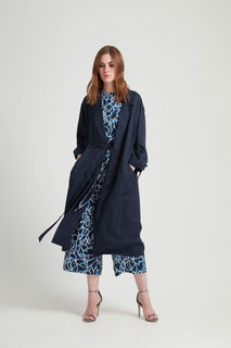 Elma Duster Coat in Navy